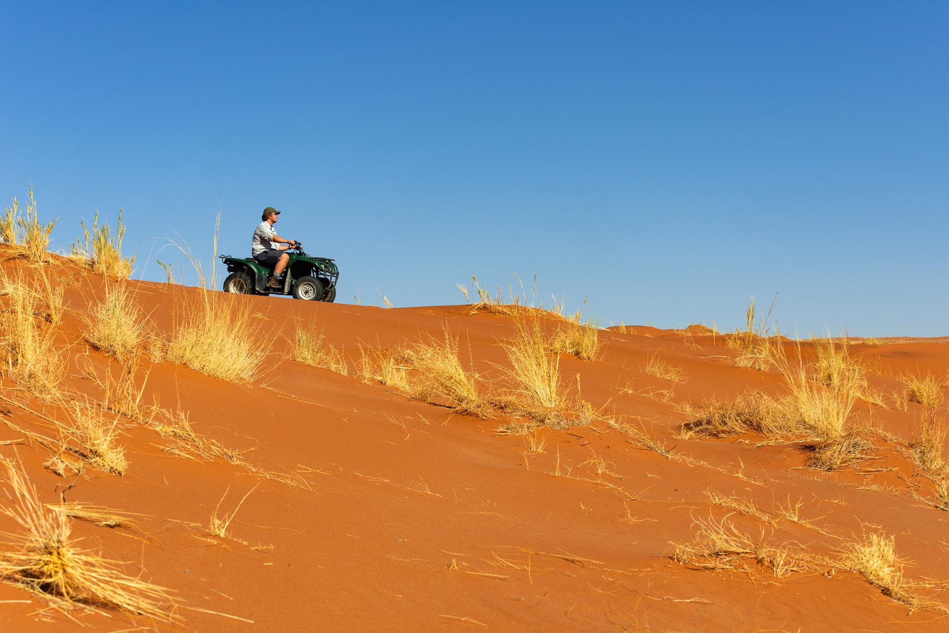Quad Biking over Namibia's Ancient Dunes: