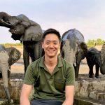 Matt with Elephants