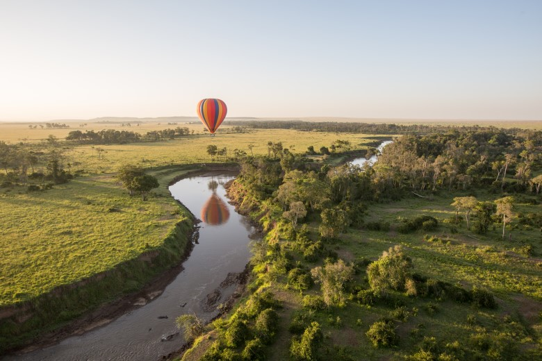Hot Air Ballooning over the Maasai Mara