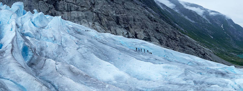 Trekking the Blue Ice Glacier