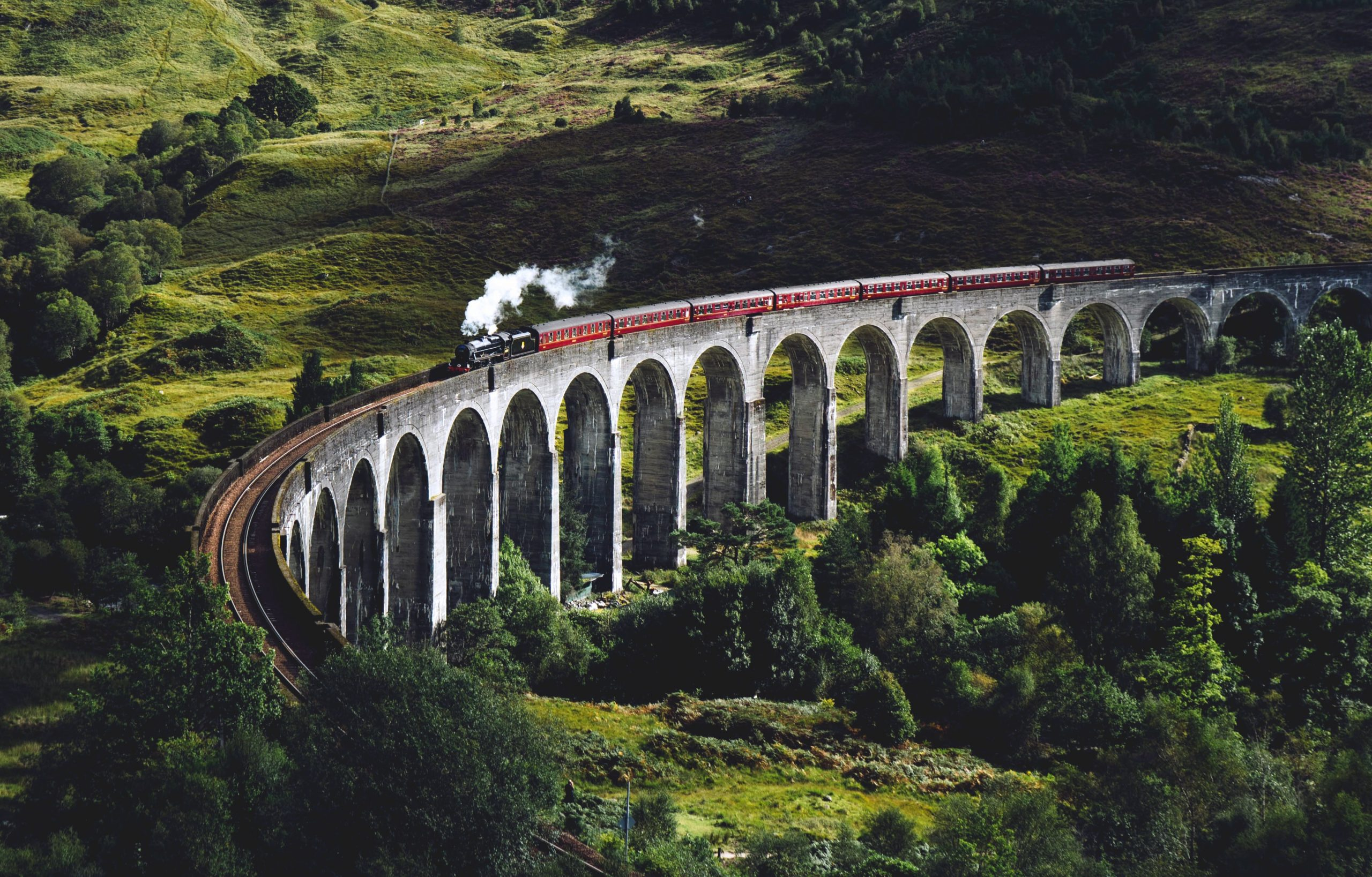 A Scenic Train Journey