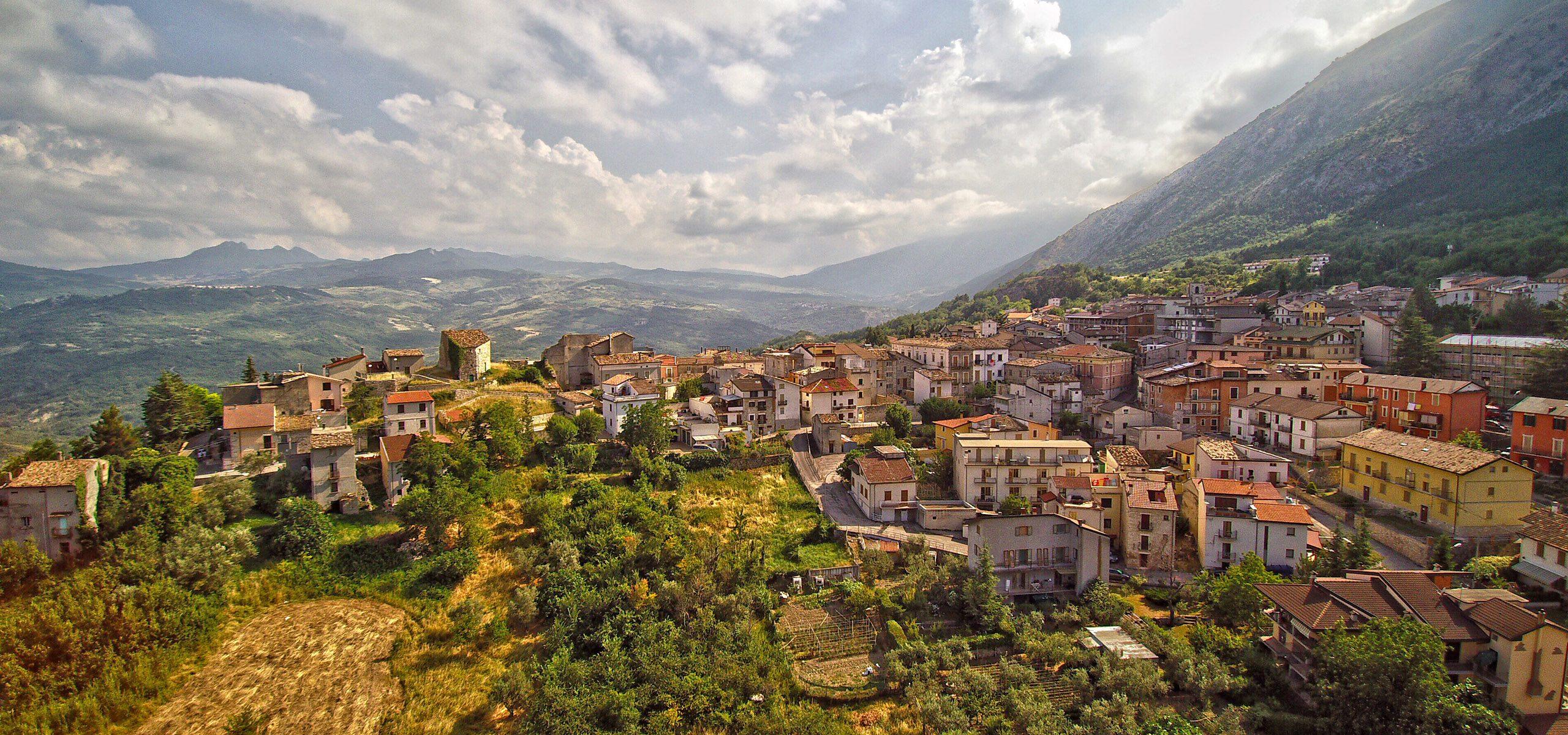 Italy Abruzzo Town
