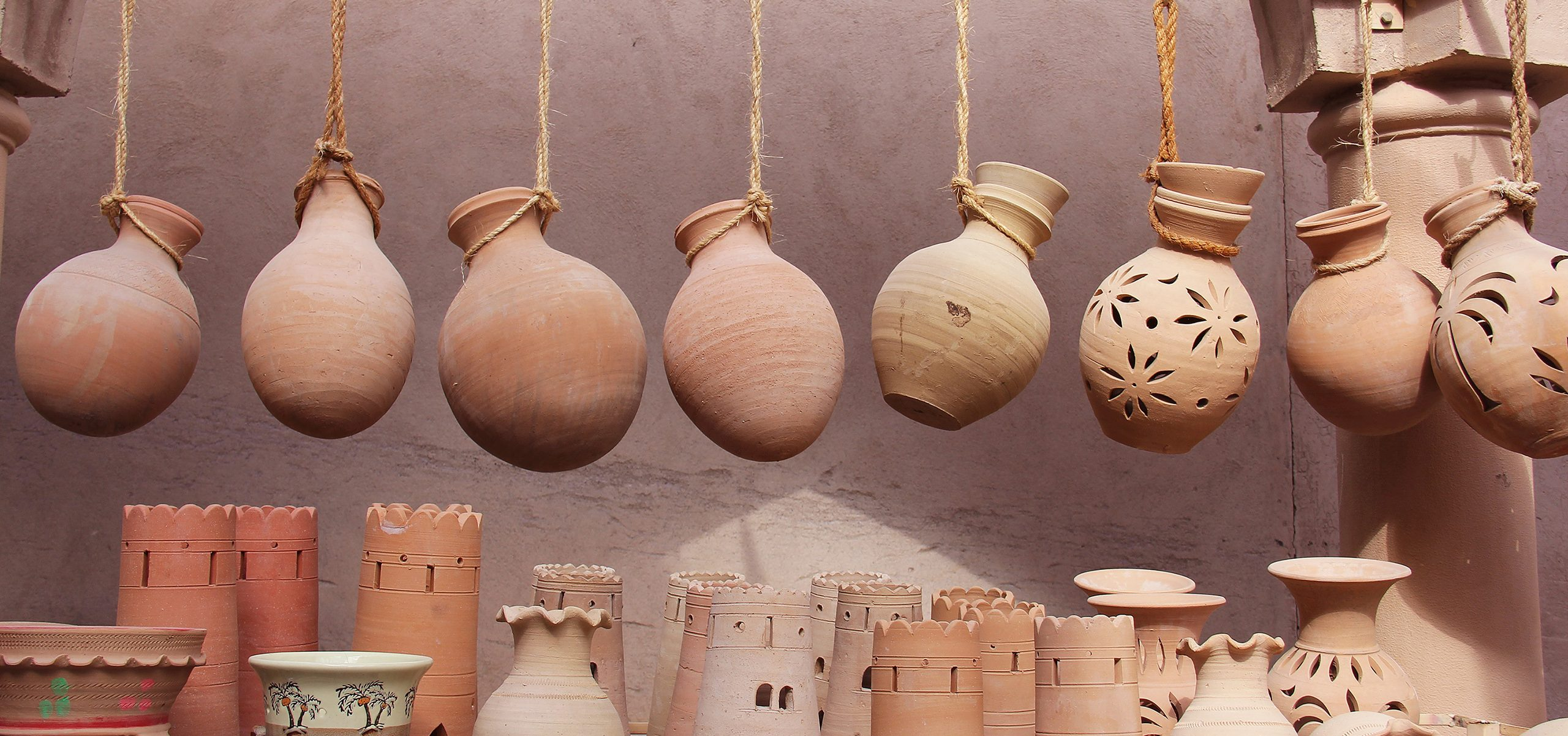 Oman-Nizwa-Souq Market Pottery