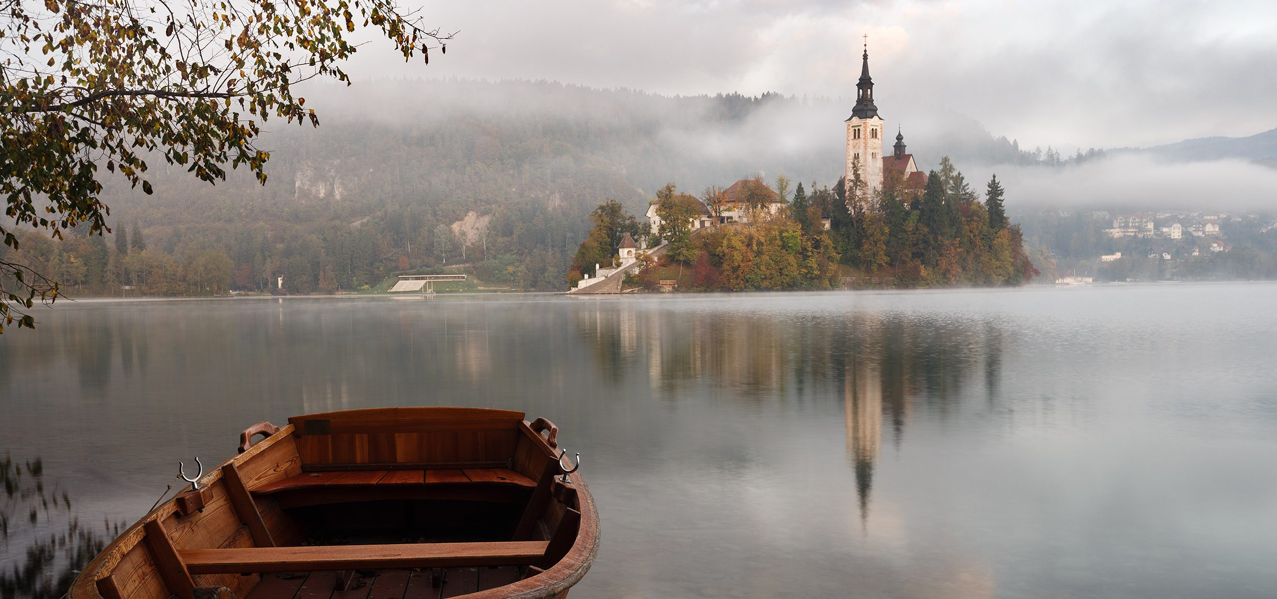 Slovenia-Boat on the Lake